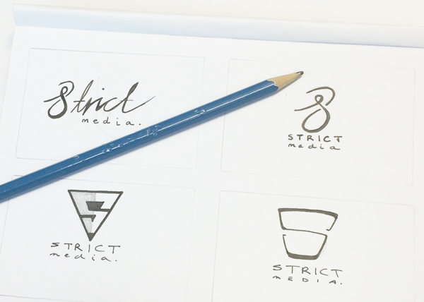 strict media logo evolution company branding