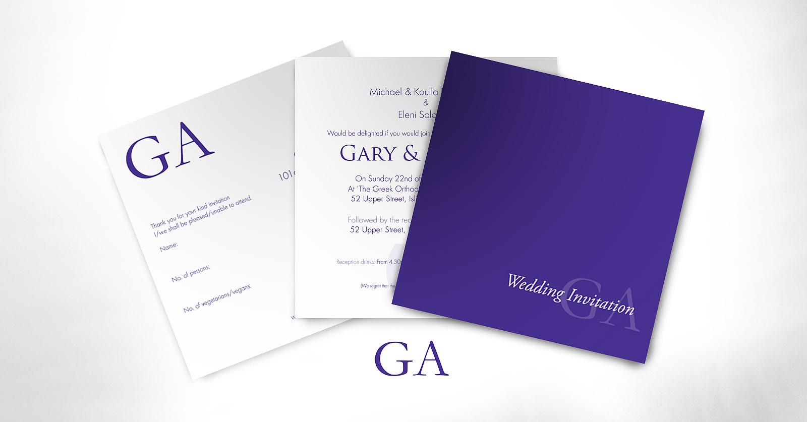 Gary & Andrea invite