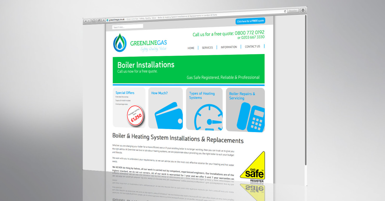 Greenline gas website front page
