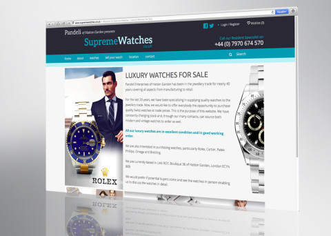 supreme watches website front page