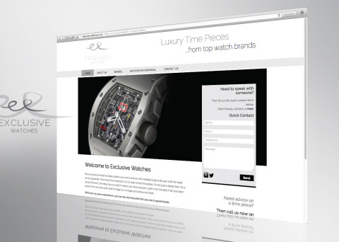 exclusive watches website front page