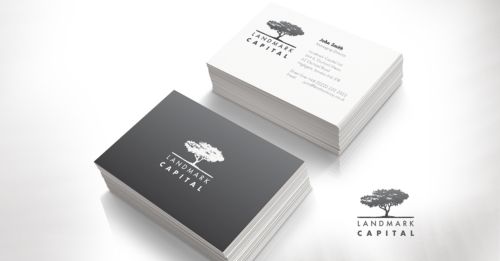 landmark capital business cards