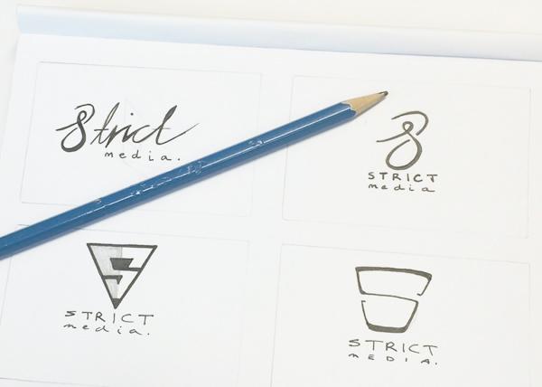 strict media logo evolution company branding